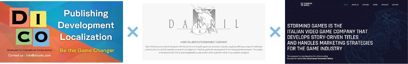 DICO株式会社、DARRIL ARTS社およびSTORMIND GAMES社と業務提携 ~イタリアのストーリー性の高い優れたゲームを日本語化~