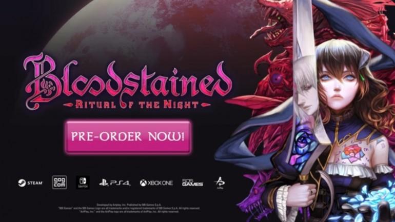 【予約受付スタート!!】『Bloodstained: Ritual of the Night』PC(Steam、GOG)版が6月18日発売!! Steam版は予約開始を記念した10%オフセールにて4,932円で購入可能